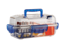 [32140] Sicherheits-Transportbox aus PC, transparent/blau - Art. Nr. 32140