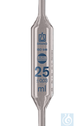[44028] Vollpipetten Kl. AS Blaubrand, 25 ml, 6 St./Pack - Art. Nr. 44028